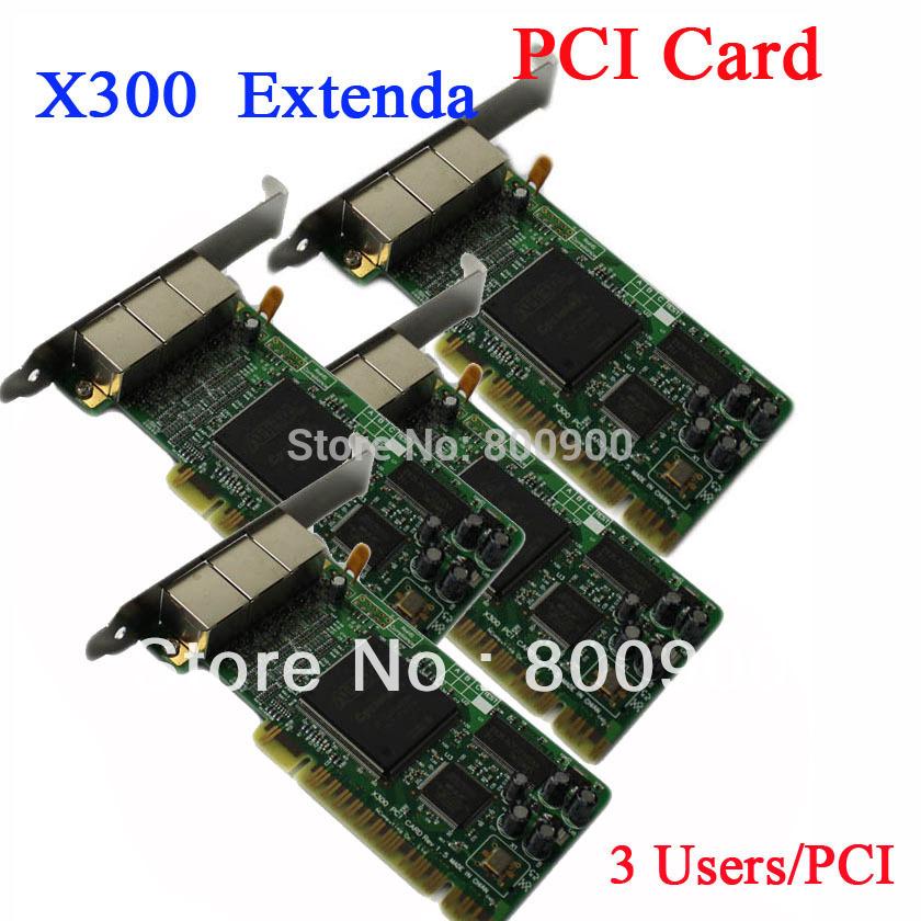 INCTEL IN-X300 thin client PCI Card ncomputing clone X300 PCI Card extenda PCI card NC X300 X350 PCI Card(China (Mainland))