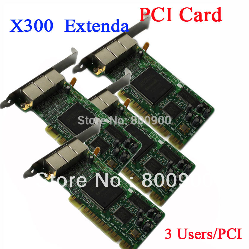 INCTEL IN-X300 thin client PCI Card ncomputing clone X300 PCI Card extenda PCI card NC X300 X350 PCI Card(China (Mainland))