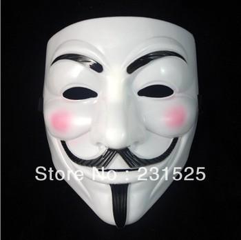guy fawkes V vendetta team pink blood scar masquerade masks Halloween carnival Mask(adult size) 100pcs/lot dhl b free shipping