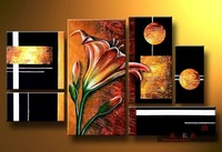 Hand painted oil painting on canvas flower picture frameless decorative painting abstract paintings mural home decor