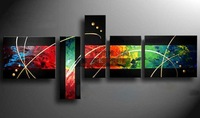 Hand painted oil painting modern decorative abstract painting on canvas picture frameless mural