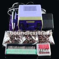 "Free Shipping Hot sale Nail Drill Bits 300 pcs of 80"" 120"" 180"" Sanding Bands 1Set 30000 RPM Electric Kits KD141B+KD163+165-167"