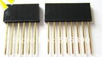 FREE SHIPPING 80PCS 2.54MM 6Pin & 8Pin 15MM Long Needle Female Header Strip Stackable Header 6&8 Pin Kit