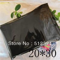 "Wholesale Bulk Lot thicken opaque black Zip Lock Plastic Packing Bags Top Seal 5MIL 20cmx30cm(7.9"" x 11.8"") 100pcs"