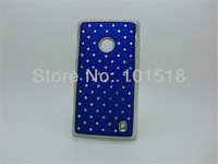 10pcs/lot Free shipping New Luxury Bling Diamond Crystal Star Hard Case Cover for Nokia Lumia 520