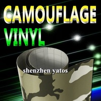 Good quality   Camouflage  wrap vinyl/ vinyl film reflect with air free bubbles 1.52x30M