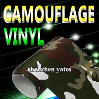 Good quality   Camouflage  vinyl foil For car roll   with air free bubbles 1.52x30M
