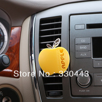 Free shipping  APPLE car air freshener  car air conditioner vent perfume candy color auto perfume bottle+free send spare spices