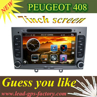 2013 newest version Car GPS, Car DVD for PEUGEOT 408 308  with GPS+TV(optional)+IPOD+USB+SD support rear view camera headrest