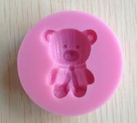 1PCS Lovely bear shape Chocolate Candy Jello 3D silicone Mold Cartoon Figre/cake tools Soap Mold Cake Decoration CC091