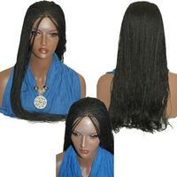 """FREE SHIPPING Fully hand braided lace front wig Hannah 1B in 22""""      lace front wigs"""