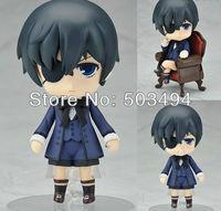 "Free Shipping Cute 4"" Nendoroid Black Butler Kuroshitsuji Ciel PVC Action Figure Model Collection Toy #117"