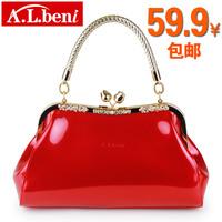 Women's bags 2013 women's handbag japanned leather handbag shoulder bag red bridal bag small bag