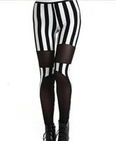 Drop Shipping 2014 New Arrival Leggings Vertical Stripe Printed Legging Fashion Pencil Pants Skinny Casual Wear KD-424