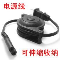 Plug 8 portable power cord retractable reel storage black ca-004-1m