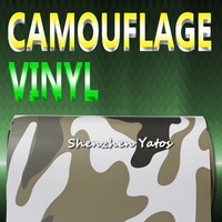 Camouflage Skin Car Wrapping Vinyl Sheet Air Bubble 15.2*30M