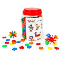 Free Shipping 500pcs/lot Bottled snowflakes plastic insert blocks toy child assembled blocks