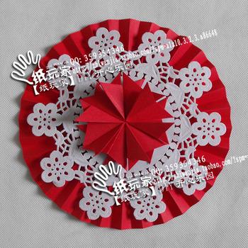 Large wedding folding fan flower 0004 laciness 10