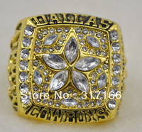 Free shipping 1995 Dallas Cowboys Super Bowl replica championship rings(R109609)