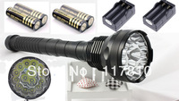 HK Post Free 2013 New TrustFire flashlight 18000lm 15x CREE XM-L T6 LED Flashlight Torch 15T6 Light Lamp+ 4x18650 + 2 Chargers