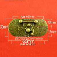 A106 padlock packaging box wooden box padlock small hasp shackle bronze horn lock diy accessories