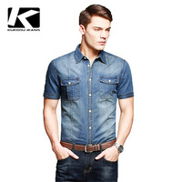 New Arrvial Men's Casual Short-sleeve Shirt, Fashion Men Jean T-shirt, Brand Summer T-shirt For Men, Free China Post Shipping