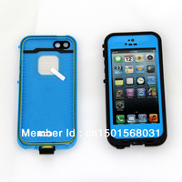 Free Shipping 10 colors Waterproof Shockproof Dirt proof water proof fre Case for iPhone 5 with Retail packaging