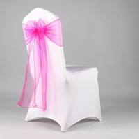 Free shipping 200 Rose Red Organza Chair Cover Sash/Bow Wedding