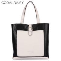 Coraldaisy Women Leather Handbags 2013 Ladies Genuine Leather Leisure Bump Color Bag  Handbags Women