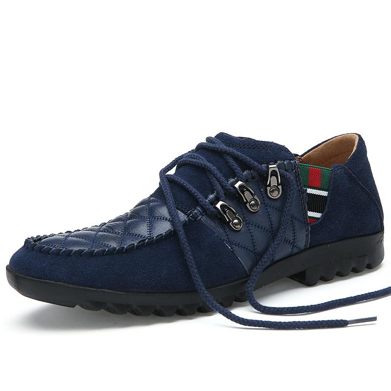 Мужская причинно туфли мужской замши платье туфли Comforbale прохладно туфли с кружево бесплатная доставка