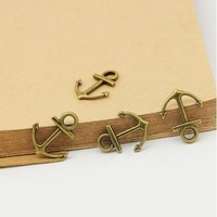 100pcs 15*19mm Vintage Bronze Metal Alloy Anchor Jewelry Charms Fit Jewelry Making Pendants