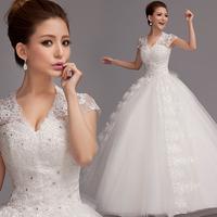 2013 slit neckline princess bride V-neck plus size