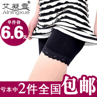 2013 women's safety pants modal legging lace shorts