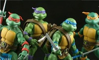 Free shipping Dragon ball Teenage Mutant Ninja Turtles toy 1set/4pcs action figure