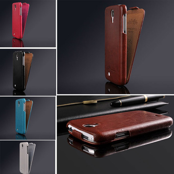 Luxury Retro PU Leather Flip Case For Samsung Galaxy S4 i9500  with Fashion LOGO New Arrival , Free Screen Protector !