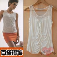 Summer modal women's spaghetti strap small vest basic shirt fashion slim
