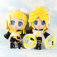 FREE SHIPPING Hatsune Miku Hatsune Twins  plush  doll/Kagamine Rin/Kagamine Len/kid  birthday  toys/doll  /Cartoon image  CL0086