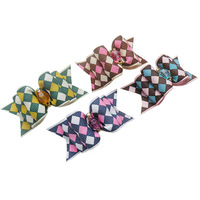 Handmade Accessories dogs Colored plaid ribbon Ribbon Bow DB363. Dog grooming bows, Wholesale dog bows.