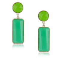New 2014 candy color statement stud earrings for women Acrylic jewelry  free shipping RuYiEHY010