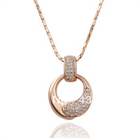Free shipping 2013 women 18 k  gold plated and Diamante necklace