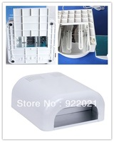 Free Shipping Wholesale - UV Lamp Dryer 36w lamp shellac gel+ 4 x 9w Tube Light Bulbs 220-240V US Plug