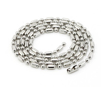 316L steel bamboo necklace chain, 2.4mm, Length 55cm, Jewelry accessory