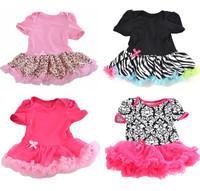 Baby Ruffles Tutu DressToddler Romper Girls One-Piece Outfit Lovely Dress 3-12M