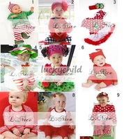 free shipping!wholesale,2013 merry christmas cotton hotsale fantasy baby clothing set,5pcs/lot