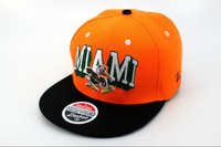 Miami hurricane team snapback hat orange/black baseball hats cheap selling online freeshipping !