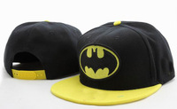 Batman Snapback Cap Snapback Hats adult's most popular cartoon caps without min order Freeshipping !