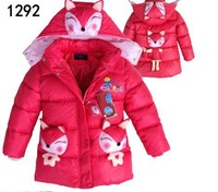 children winter clothing 1292 child outerwear high quality female child cartoon wadded jacket fashion coat free shipping