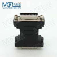 DVI 24+5 Female to Female F/F Adapter Converter Gold Plated DVI Connector Black Free shipping