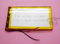 Lithium Li-polymer Rechargeable Battery Li-Po 3.7V 2200 mAh 455085 for  MP5 GPS PSP mobile MID electronic toys