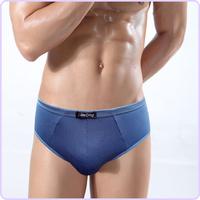 10piece mixed color Solid color bamboo fibre +cotton men's  boxer  /underwear comfortable breathable  panties